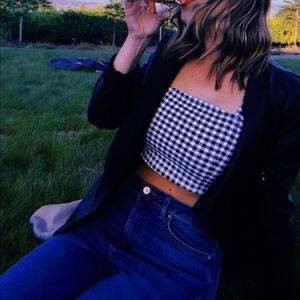 Forever 21 Gingham Crop Top